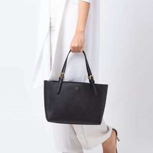 Tory Burch Emerson Black Leather Tote
